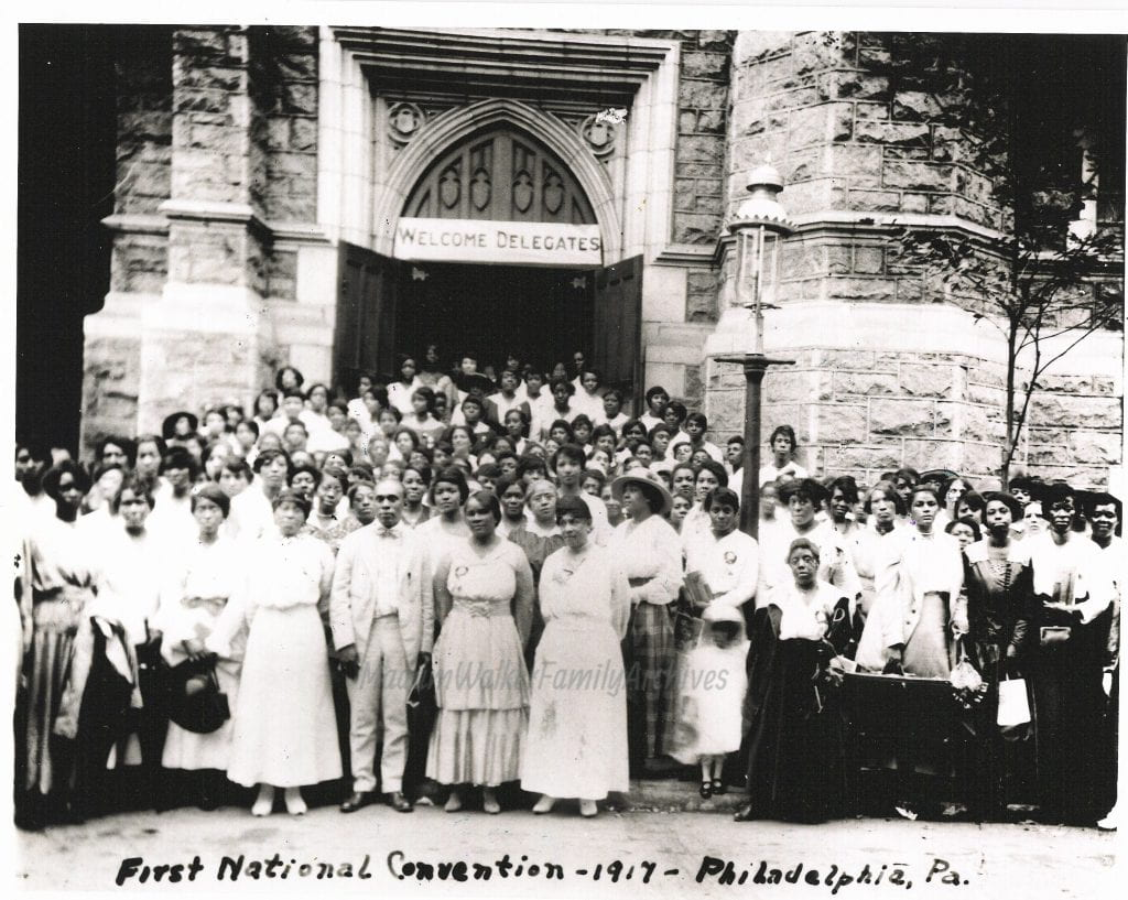 Madam Walker's first National Convention, 1917 in Philadelphia. Photo courtesy of Madam Walker Family Archives/A'Lelia Bundles