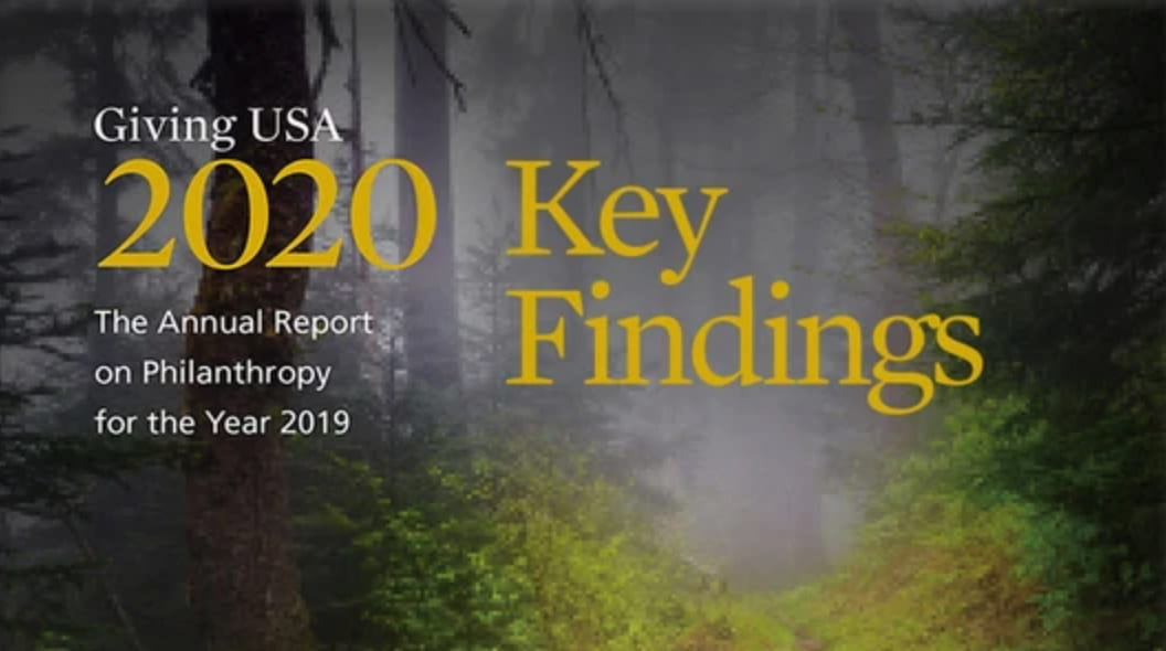 Giving USA 2020 key findings
