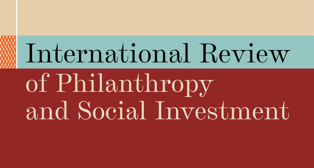 International Review of Philanthropy and Social Investment journal cover