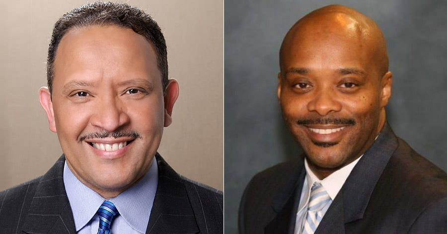 Marc Morial and Tony Mason