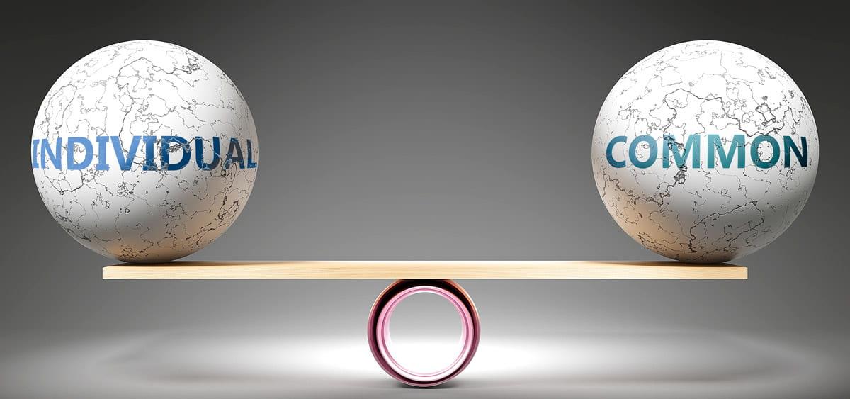 common vs. individual
