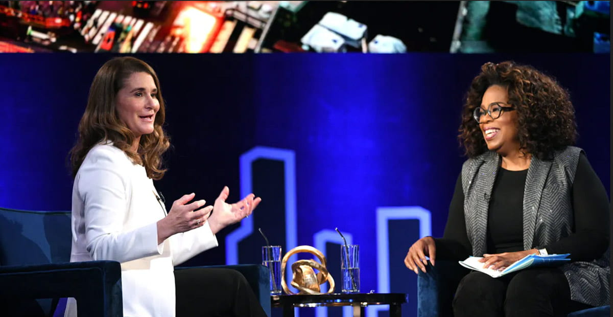 Melinda French Gates and Oprah Winfrey