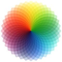 A color wheel showing a vast spectrum of colors.