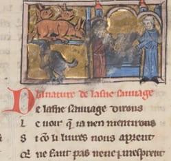 Guillaume le Clerc de Normandie's Bestiary BnF fr 24428 (67r)