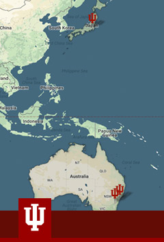 Map of the president's trip to Japan and Australia
