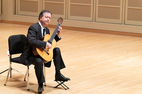 Emanuele Segre performing at Auer Hall