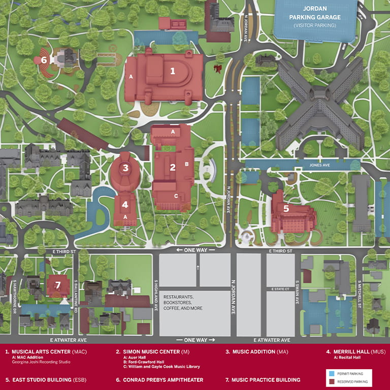 Jacobs School of Music map
