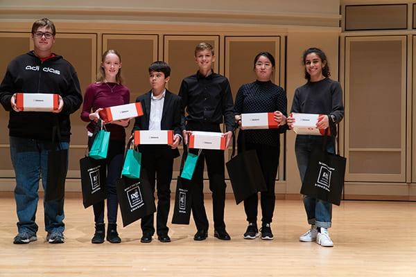 Youth Division winners(From left to right): Seth Miller, Eva Schwark, Teodor Georgiev, Ian Tubbs, Fangfang Liu, Leonela Alejandro