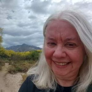 Rachel hiking in Tuscon, AZ.