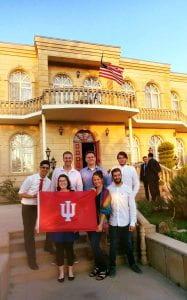 IU students enjoy a Fourth of July celebration at the U.S. Embassy in Baku, Azerbaijan.