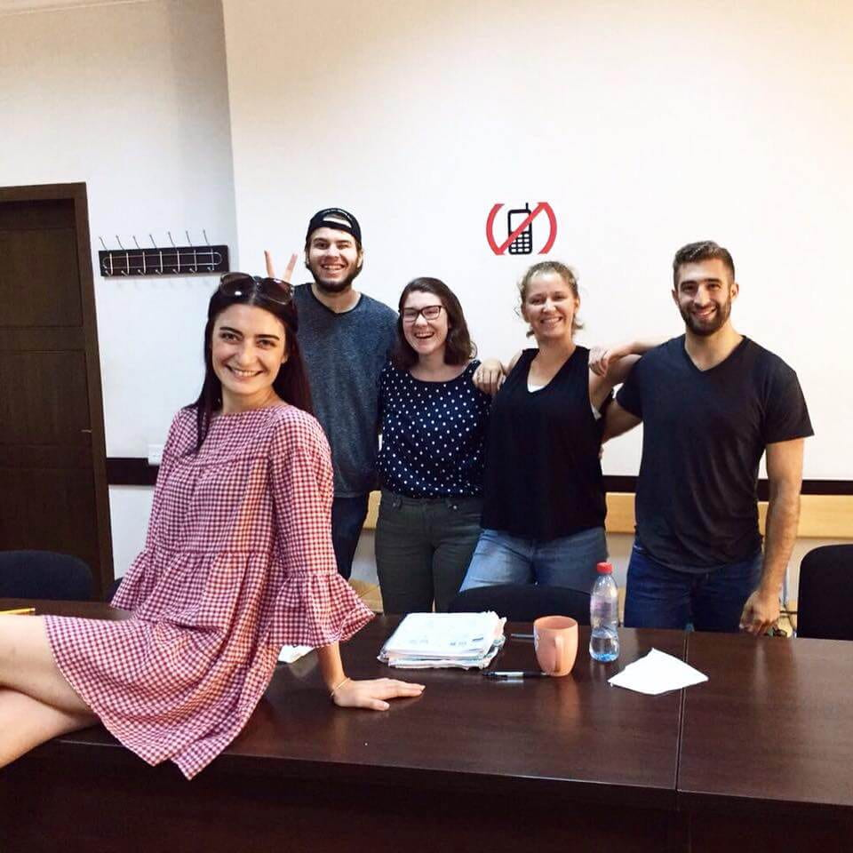 Turkish Overseas Flagship students with their language instructor on the last day of class.