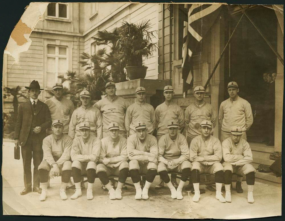 The IU baseball team was a huge hit on its 1922 trip to Japan. Photo from IU Archives collection.