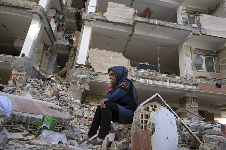 Many of the Iranian dead in the Nov. 12 Iran earthquake lived in the Mehr Housing, state-built affordable apartments that crumbled when other buildings stayed up. AP Photo/Vahid Salemi