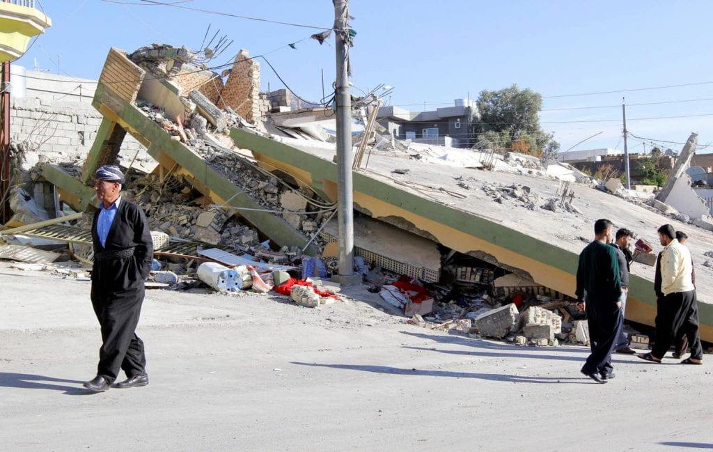 The Kurdish town of Darbandikhan, in Iran, the day after the quake. Aka Rasheed/Reuters