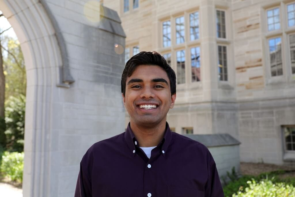 IU Bloomington student commencement speaker Eashan Kumar. Photo by Cadence Baugh, Office of the Provost