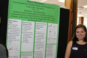 An SGIS student with a project