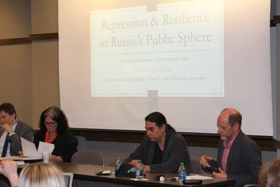 Panelists at Russian Studies Workshop symposium