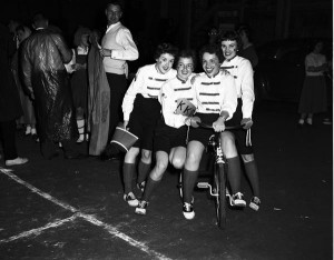 The winners from the first Mini 500 in 1955. Photo courtesy IU Archives, P0041409.