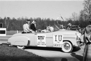 """Basketball Parade,"" 19 March 1953. Photo courtesy of IU Archives, P0043538.""Basketball Parade,"" 19 March 1953. Photo courtesy of IU Archives, P0043538."