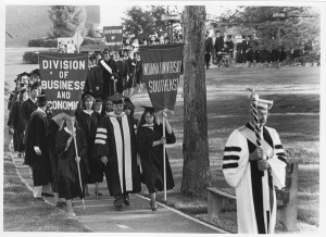 IUSE Commencement, 1983. Courtesy of IU Archives, P0049806.