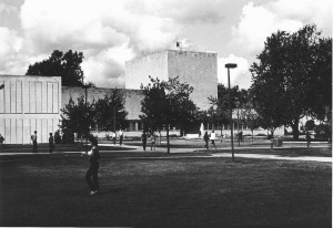 Campus Life Near Tamarack Hall, 1983. Courtesy of Calumet Regional Archives, IU Northwest.