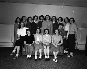 Women's Recreational Association 1949. Courtesy of IU Archives, P0047888