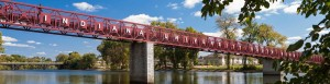 The iconic IUSB bridge. Courtesy of Google Images.
