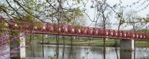 The iconic IUSB Bridge.