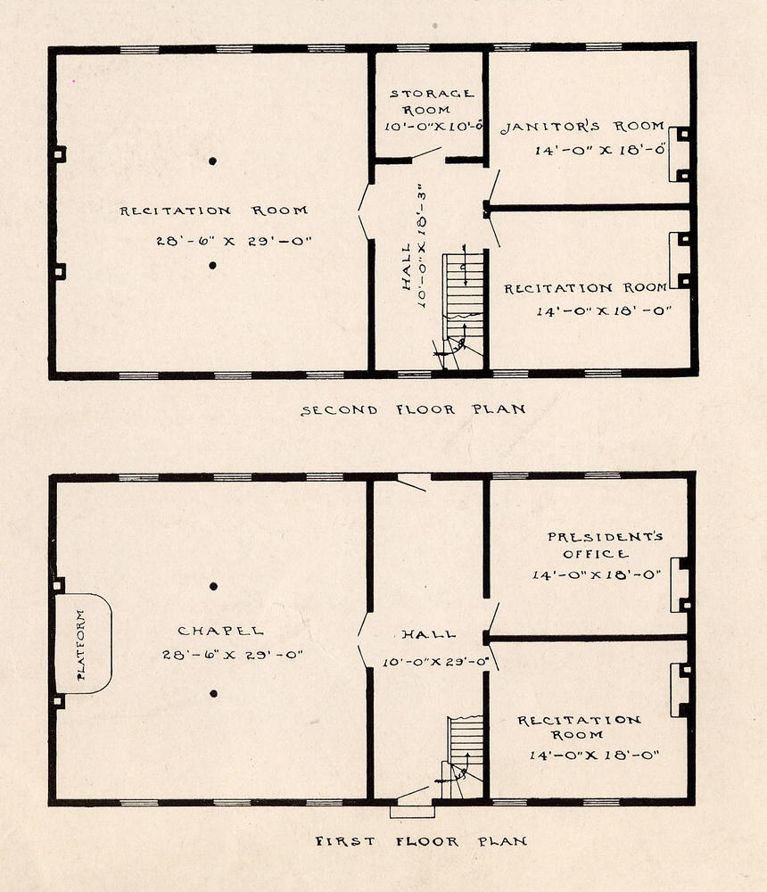 voices from the iu bicentennial page 3 bicentennial blogs floor plans of the seminary building courtesy of iu archives p0022514