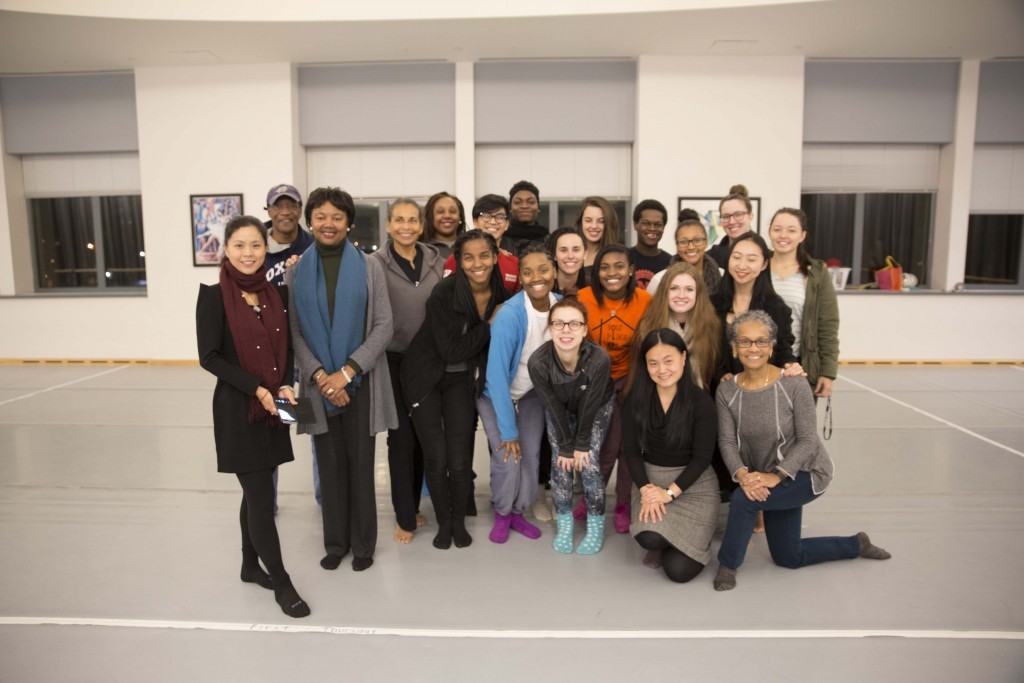 The African American Dance Company, with Dr. Charles Sykes, Dr. Carolyn Calloway-Thomas, Professor Yingli Zhou, and Professor Iris Rosa