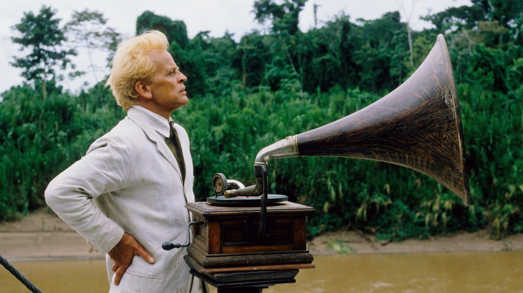Still image from film Fitzcarraldo