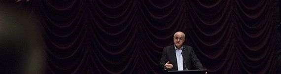IU President Michael A. McRobbie introduced A Year of Living Dangerously at IU Cinema to launch the President's Choice: Reporting Conflict Film Series.