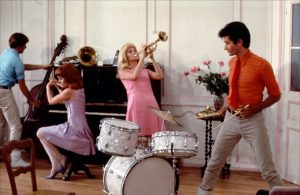 Still image from The Young Girls of Rochefort directed by Jacques Demy.