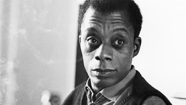 Still photograph of James Baldwin.