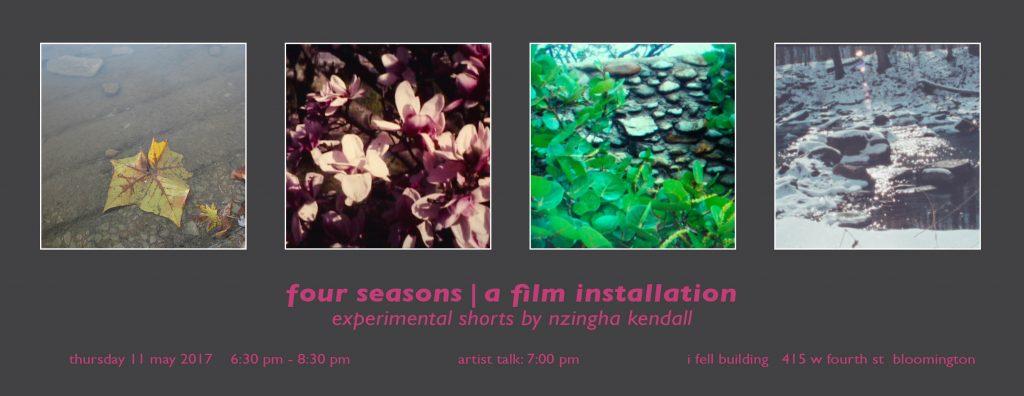 four seasons   a film installation: experimental shorts by Nzingha Kendall