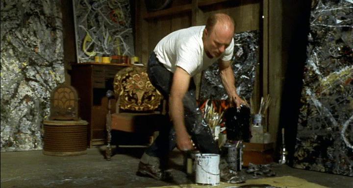 Ed Harris in action as Jackson Pollock