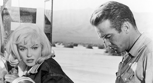 Marilyn Monroe and Montgomery Clift in The Misfits