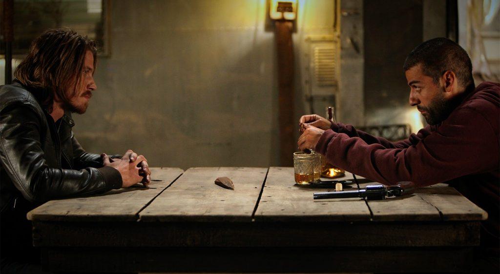 Garrett Hedlund and Oscar Isaac in Mojave