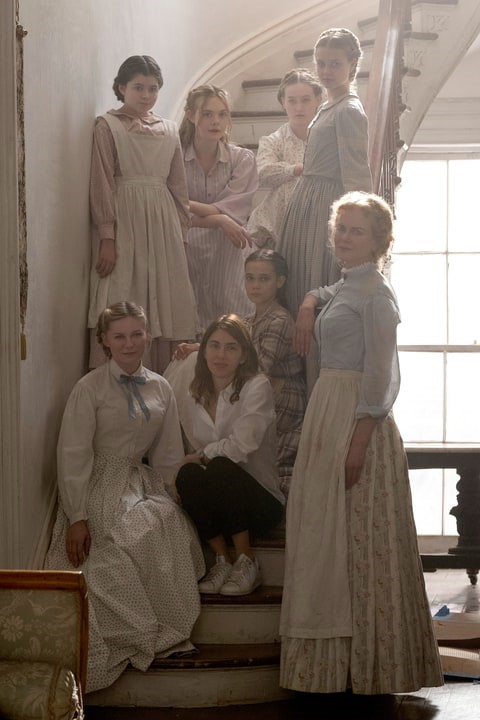 Sofia Coppola with the women of The Beguiled (2017)
