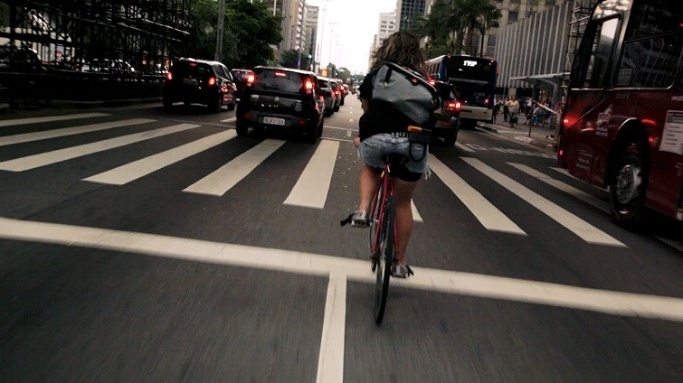 Still from Bikes vs. Cars (2015)