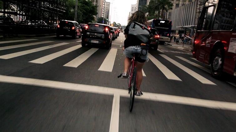 Still from Bikes vs. Cars (2015)