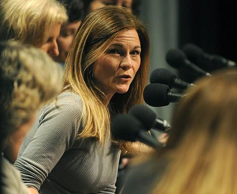 Hahn speaking at the Women's Panel during the 30th Santa Barbara International Film Festival