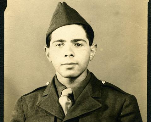 Herb Vogel in his army uniform