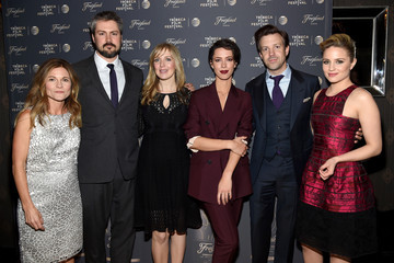 Hahn, Sean Mewshaw, Desiree Van Til, Rebecca Hall, Jason Sudeikis, and Diana Agron at the Tribeca Film Festival after party for Tumbledown