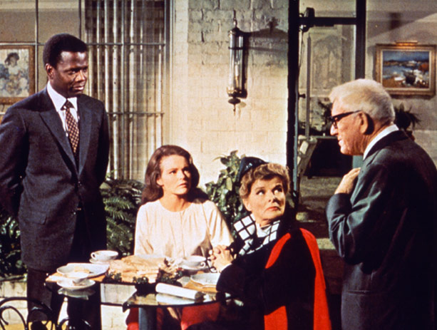 Sidney Poitier, Katharine Houghton, Katharine Hepburn, and Spencer Tracy in Guess Who's Coming To Dinner