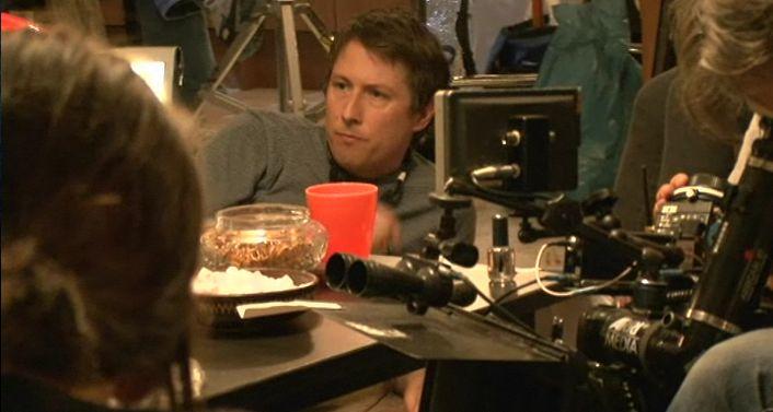 Director Joe Cornish on set