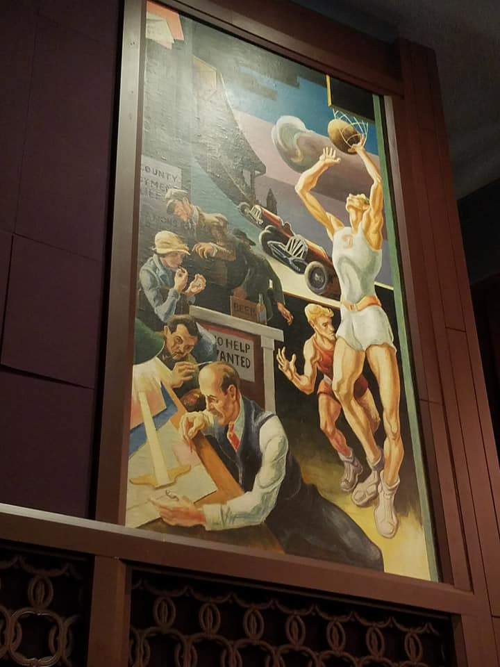 One of Benton's murals at the IU Cinema (photo courtesy of Kim Woods-Owens)