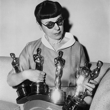 Head with just five of her Oscars