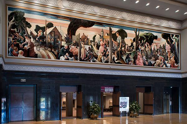 Hall of Murals: the Indiana Murals as installed in the IU Auditorium