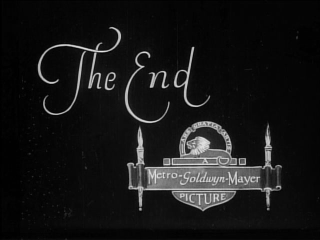 End title still from MGM